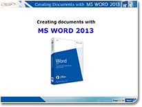 Creating word document using MS Word 2013